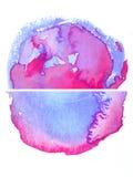 Purpere waterverf achtergrondontwerpvorm Royalty-vrije Stock Afbeeldingen