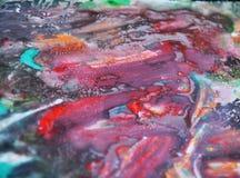 Purpere waterverfverf, zachte mengelingskleuren, het schilderen vlekkenachtergrond, waterverf kleurrijke abstracte achtergrond Royalty-vrije Stock Afbeelding