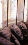Purpere woonkamer Royalty-vrije Stock Afbeelding