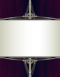 Purpere zilveren achtergrond met rechthoekig frame Royalty-vrije Stock Afbeelding