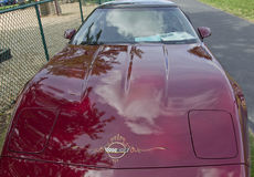 Purple 1993 Chevy Corvette Front Royalty Free Stock Photos