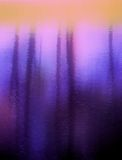 Purple abstract. Of a pond with tree trunk reflections, fading from light to dark stock illustration