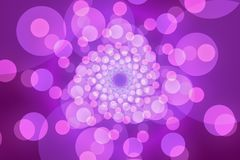 Purple abstract background, circles and light. Purple abstract background, vortex light and particles royalty free illustration