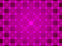 Purple abstract background, circles and squares Stock Images