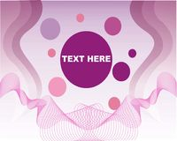 Purple abstract background with dot and simple lines. Free vector Stock Illustration