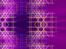 Purple abstract background, lines and light Stock Images