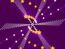 Purple abstract background and stars Stock Photos