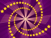 Purple abstract background and stars Royalty Free Stock Image