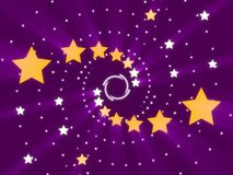 Purple abstract background and stars Stock Images