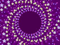 Purple abstract background and stars Stock Image