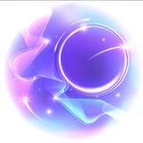 Purple abstract background with stars. Vector illustration Stock Photo