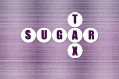 Purple Abstract Background with Sugar Tax Concept Royalty Free Stock Image