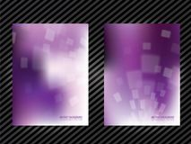 Purple abstract background template Stock Image