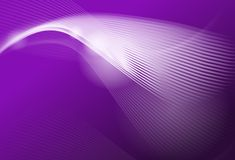 Purple abstract background. With white waves and shining Stock Images