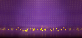 Purple abstract background. Yellow bubbles on purple background Stock Images