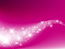 Purple  Abstract Christmas background. With white snowflakes Stock Images