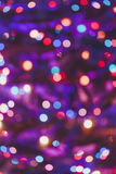 Purple abstract Christmas lights fireworks Royalty Free Stock Photography