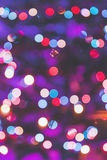 Purple Abstract Christmas lights fireworks Royalty Free Stock Photos