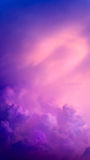 Purple Abstract Cloud and Sky Stock Photography