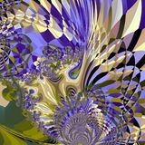 Purple Abstract Feather Pattern. Purple Digital Abstract Fractal Feather Pattern Royalty Free Stock Images