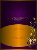Purple Abstract Floral Background Stock Photo