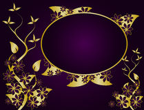 Purple Abstract Floral Background Stock Photography