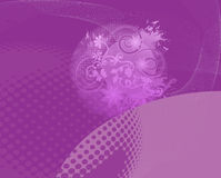 Purple Abstract Floral Backround Royalty Free Stock Images