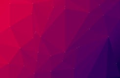 Purple abstract geometric  low poly style Royalty Free Stock Photos