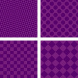 Purple abstract geometric shape wallpaper set Royalty Free Stock Images