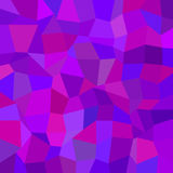 Purple abstract irregular polygon mosaic background - polygonal vector graphic from rectangles Royalty Free Stock Photography