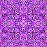Purple abstract kaleidoscope pattern stock images