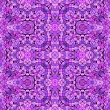 Purple abstract kaleidoscope pattern stock images