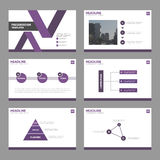 Purple Abstract multipurpose presentation templates, Infographic elements template flat design set. For brochure flyer leaflet marketing advertising banner Stock Photo