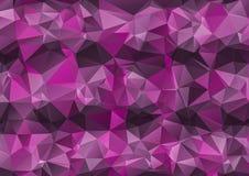 Purple abstract polygonal background. Triangular design. Creative Design Templates Royalty Free Stock Photos