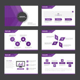 Purple Abstract presentation template Infographic elements flat design set for brochure flyer leaflet marketing. Advertising Royalty Free Stock Images