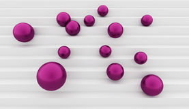 Purple abstract sphere concept. Rendered stock illustration
