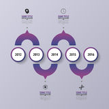 Purple abstract timeline infographics. Modern design template. Vector Stock Images