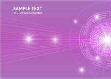Purple abstract vector background digital technology concept Stock Images