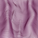 Purple abstract waves 3d effect vector background Stock Photography