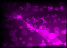 Purple Abstraction. Purple Peacefull Abstraction Shapes with gradient background Stock Photos