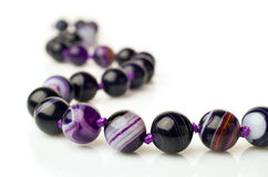 Purple agate necklace Stock Photography