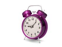 purple alarm clock Stock Photos