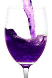 Purple  Alcoholic Cocktail in martini glass Stock Photography