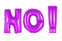 Acronym and abbreviation, no, purple color Stock Photos