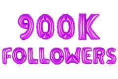 Nine hundred thousand followers, purple color Stock Photos