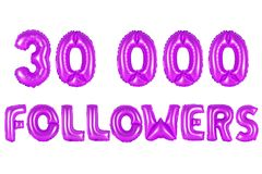 Thirty thousand followers, purple color Royalty Free Stock Photo