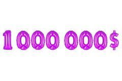 One million dollars, purple color Royalty Free Stock Images