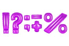 Punctuation marks, purple color Stock Image