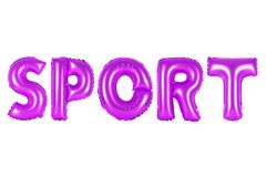 Sport, purple color stock image
