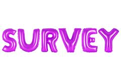 Survey, purple color stock images